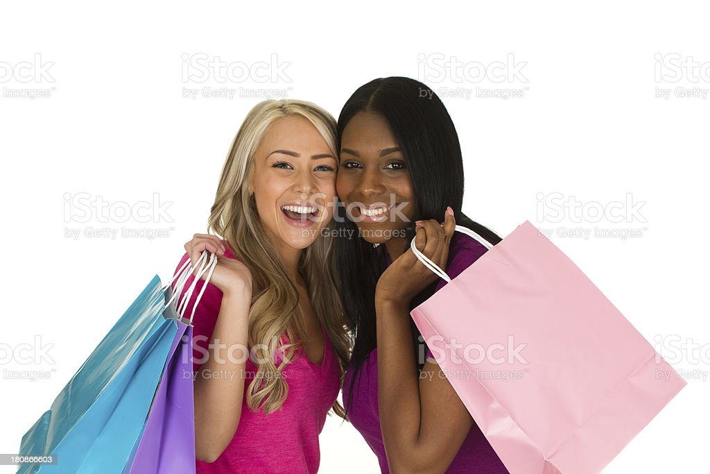 shopping friends royalty-free stock photo