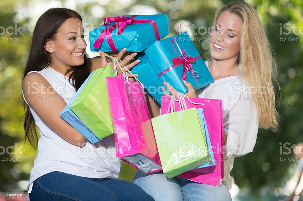 Shopping fun royalty-free stock photo