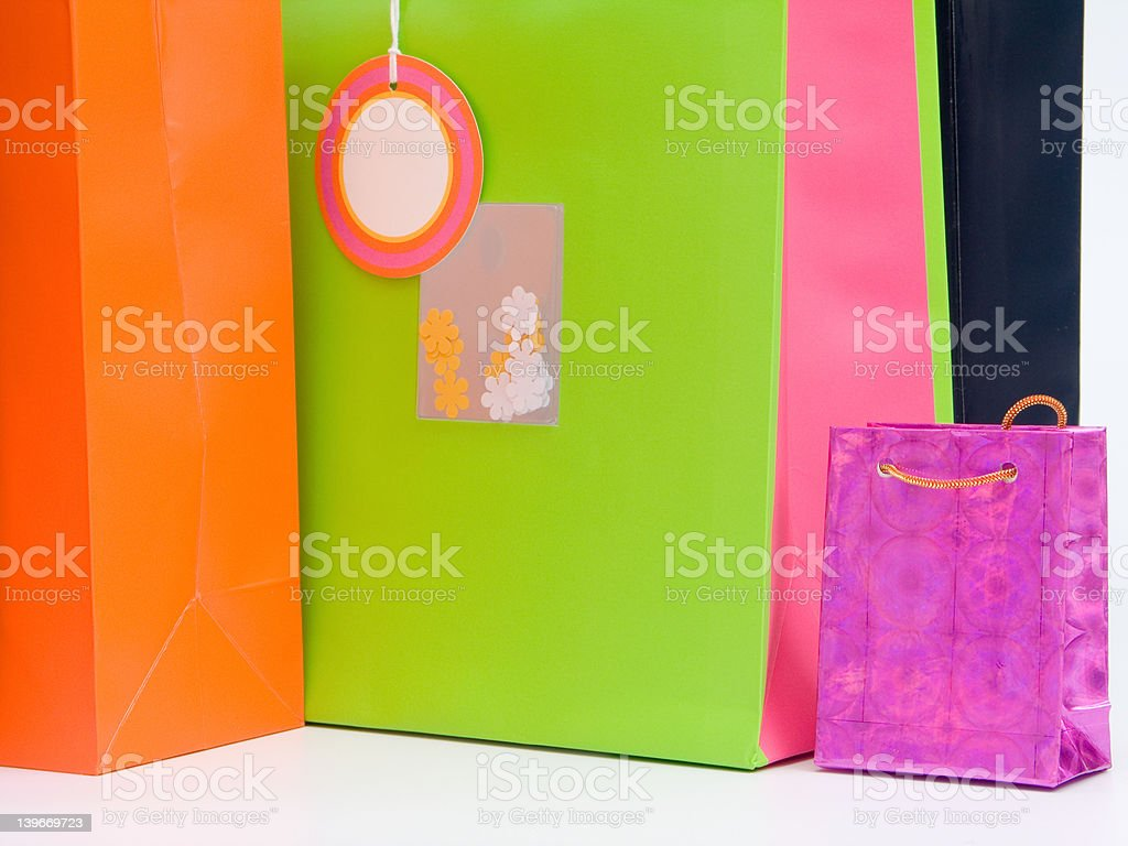 Shopping / Gift bags #4 royalty-free stock photo