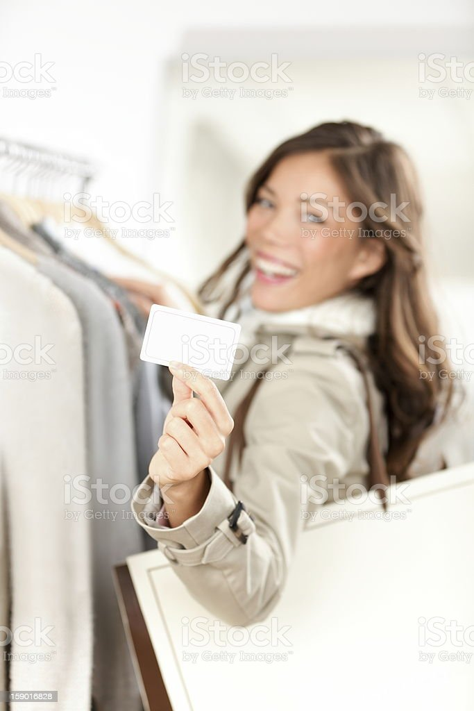 Shopping gift card woman happy royalty-free stock photo