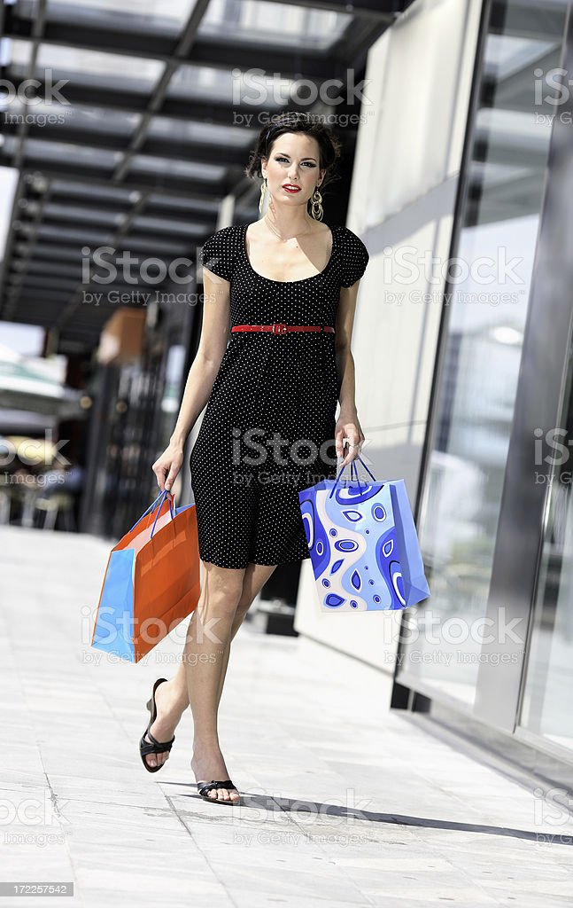 shopping gir royalty-free stock photo