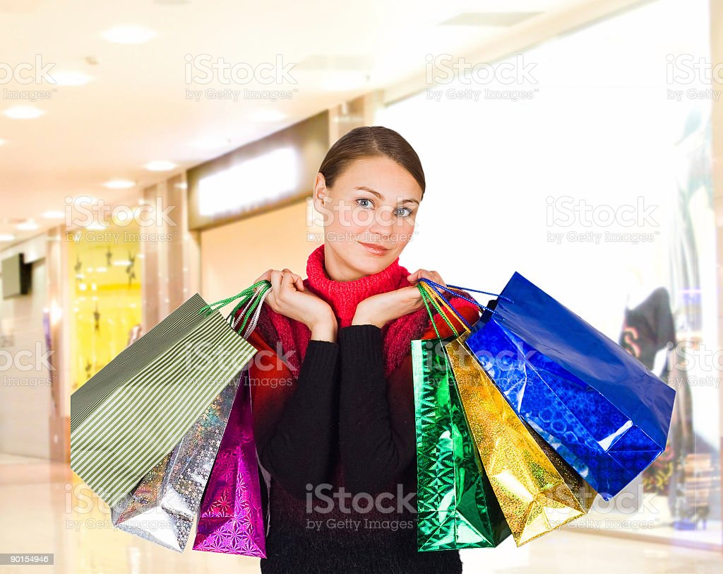 shopping girl in a mall royalty-free stock photo