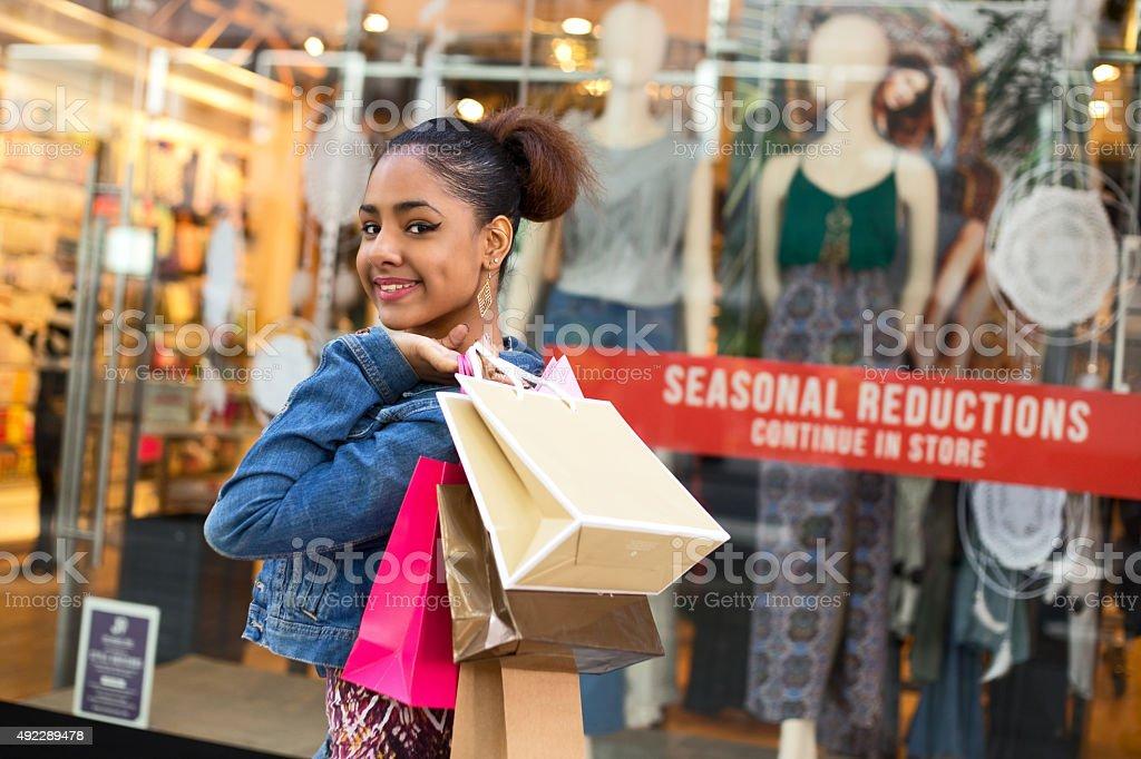 shopping girl royalty-free stock photo