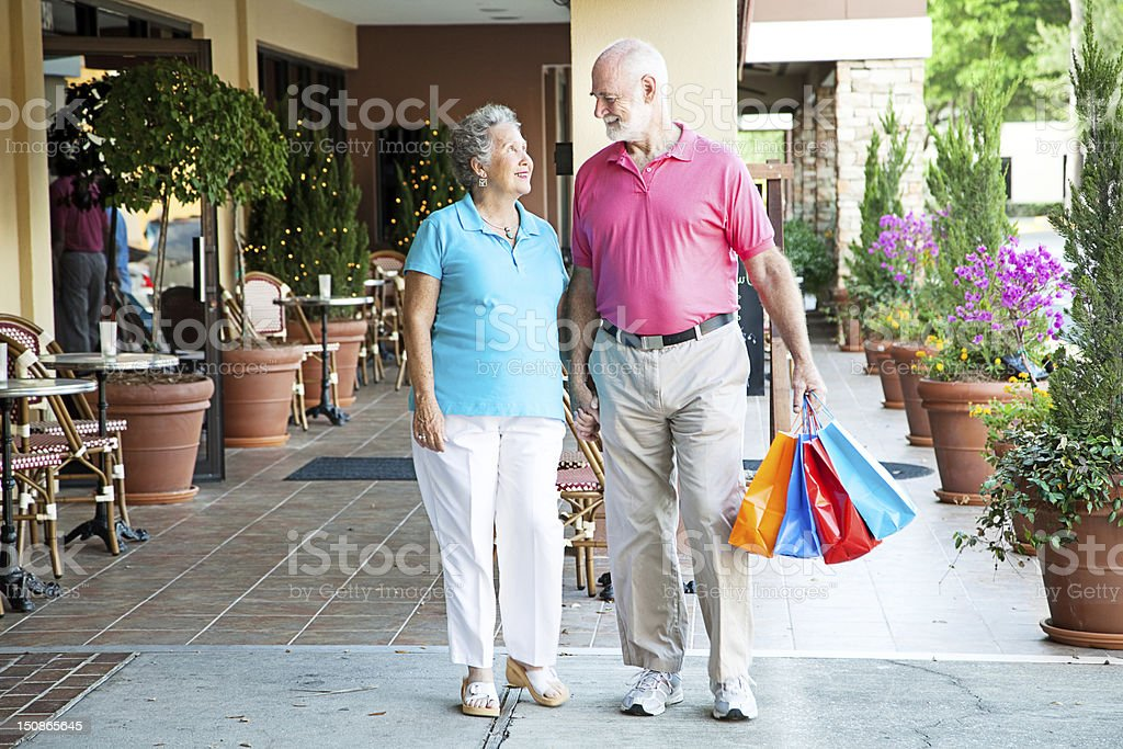 Shopping Hand-in-Hand royalty-free stock photo