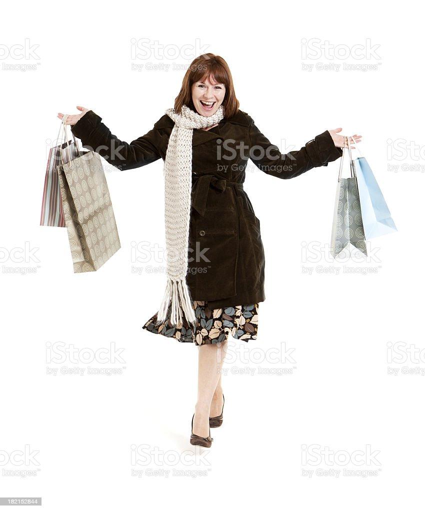 shopping: happy shopper royalty-free stock photo