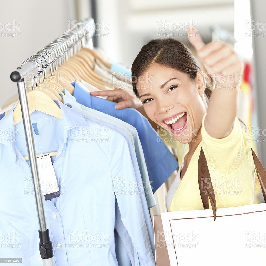 Shopping - Happy shopper woman royalty-free stock photo