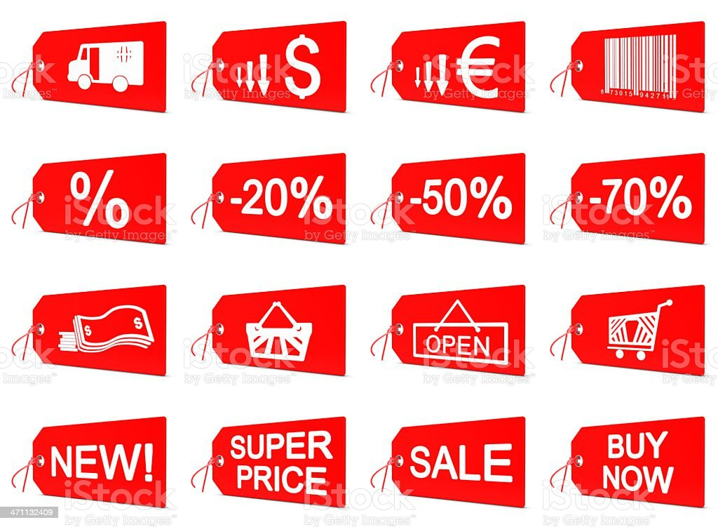 Shopping Icons - Price Tag royalty-free stock photo