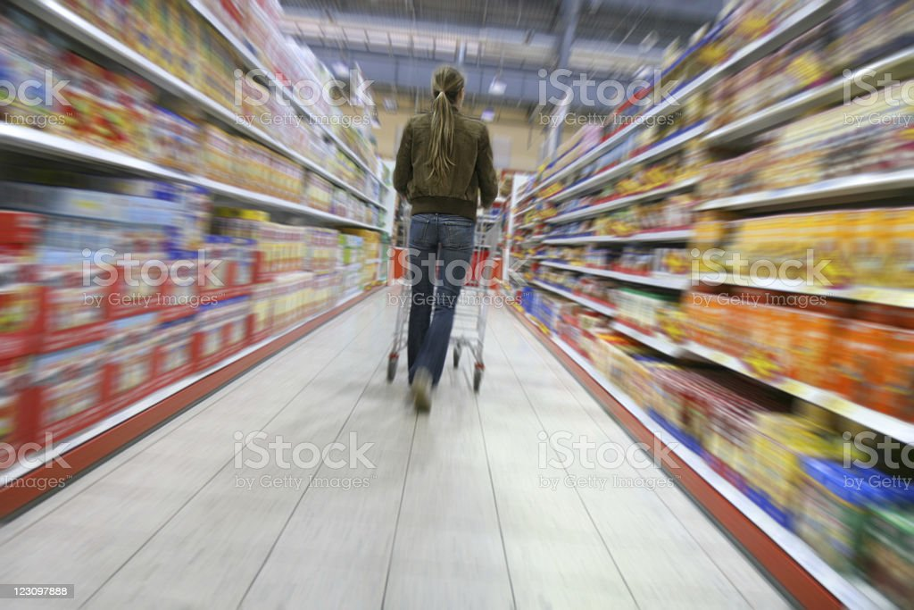 shopping in a grocery store royalty-free stock photo