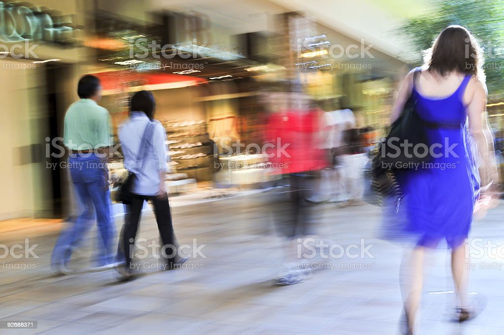Shopping in a mall royalty-free stock photo