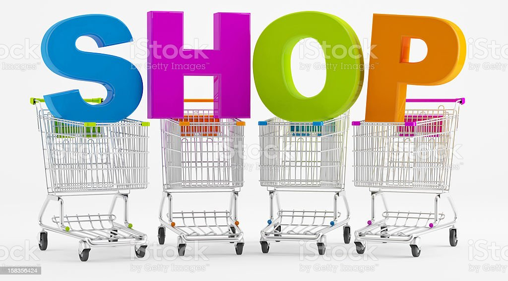 Shopping in a store royalty-free stock photo