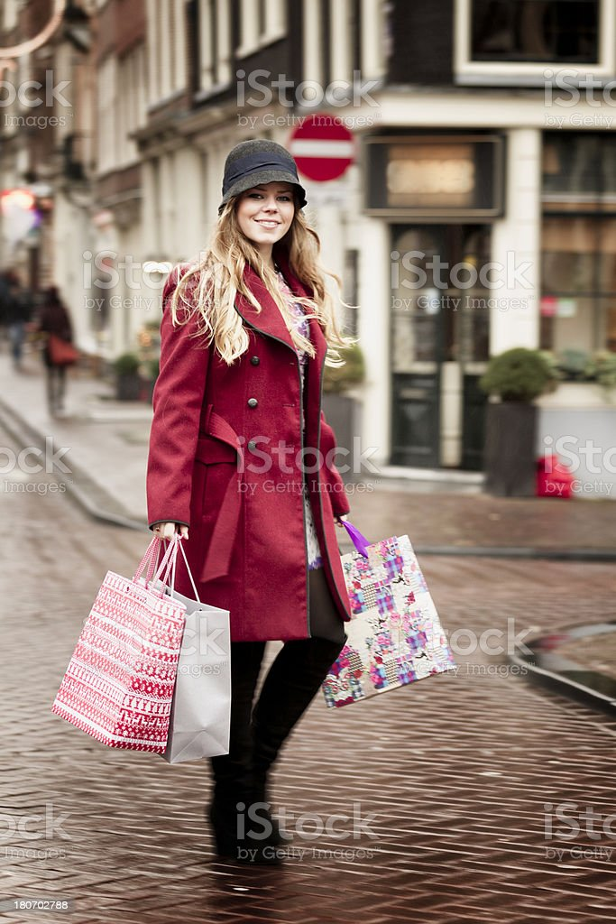 shopping in Amsterdam royalty-free stock photo