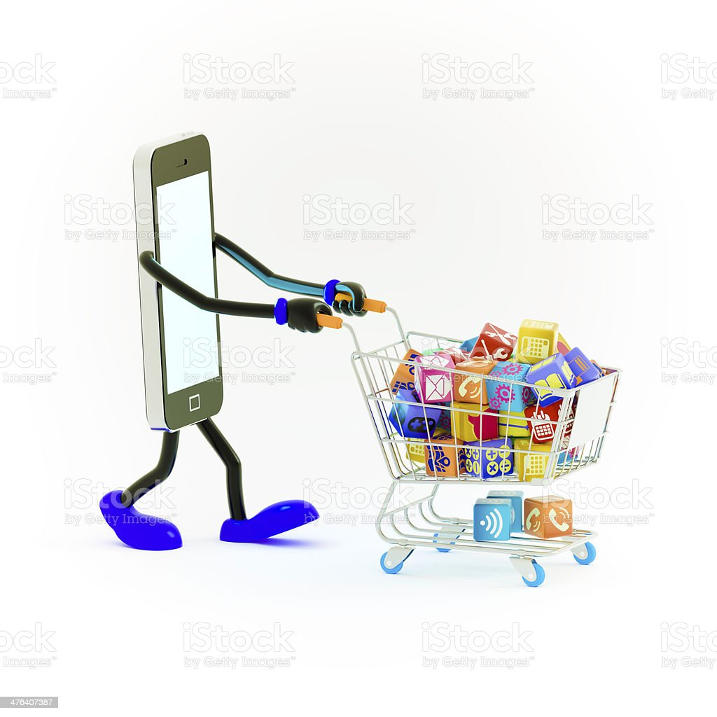Shopping in App Cloud computing royalty-free stock photo