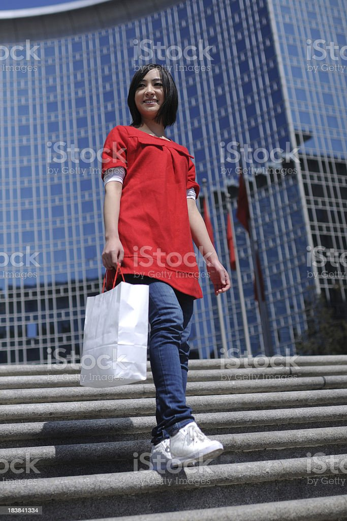 Shopping in Beijing - XLarge royalty-free stock photo