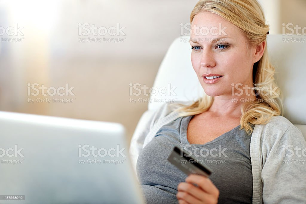 Shopping in comfort stock photo