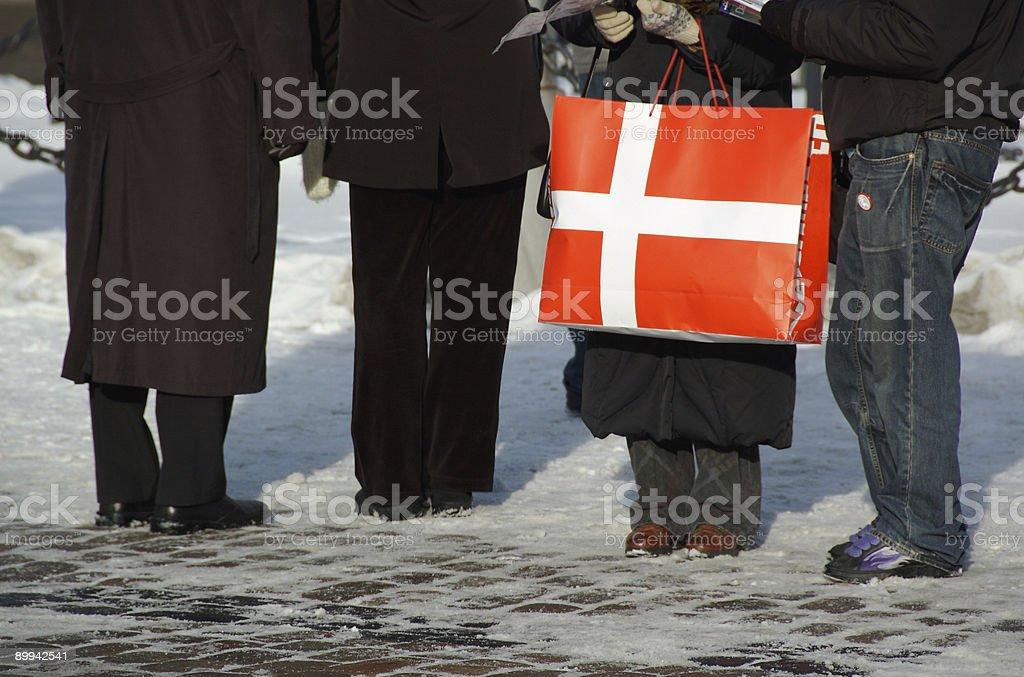 Shopping in Denmark royalty-free stock photo