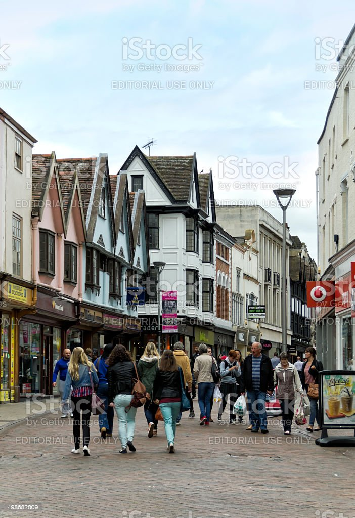 Shopping in Ipswich, Suffolk royalty-free stock photo