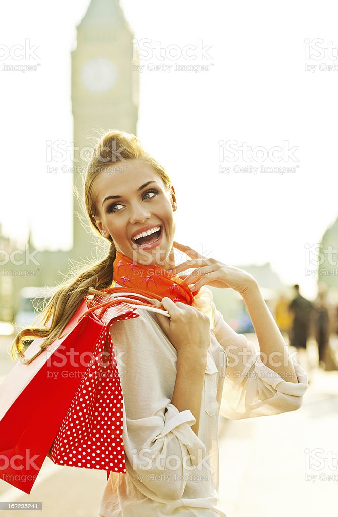 Shopping in London royalty-free stock photo