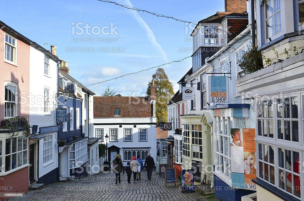 Shopping in Lymington stock photo
