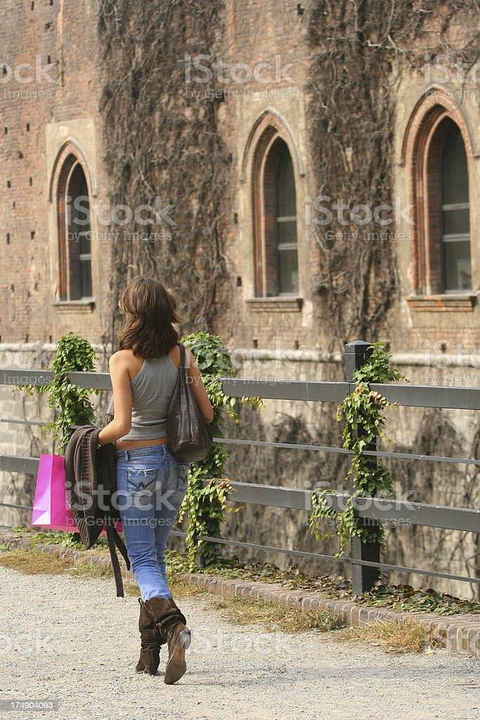 Shopping in Milan royalty-free stock photo