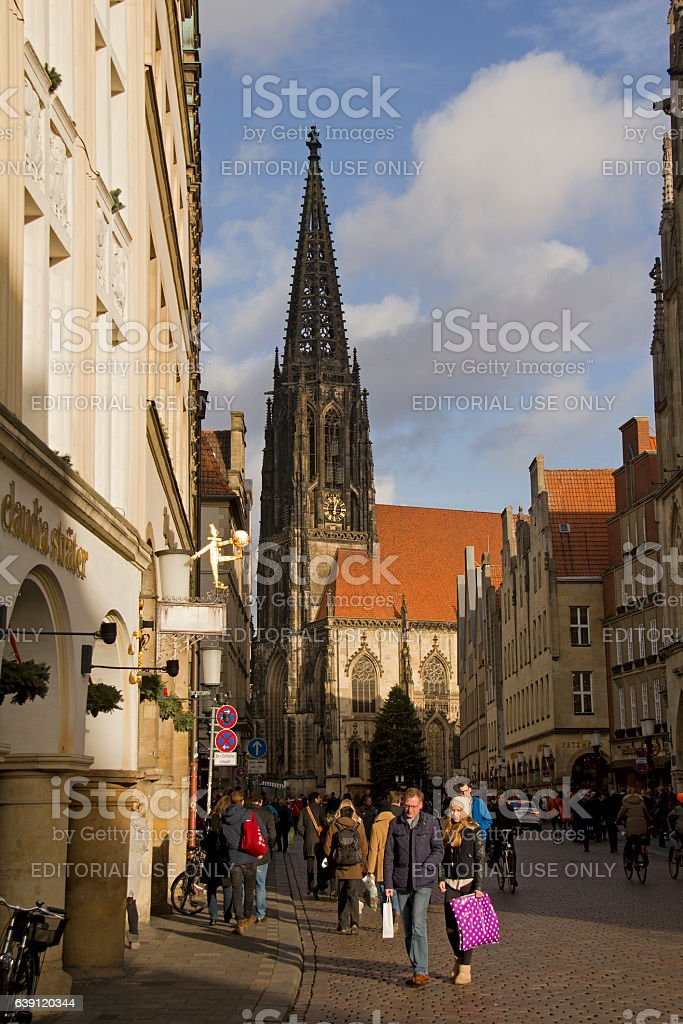 Shopping in Munster, Germany stock photo