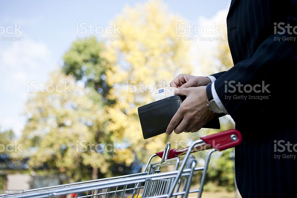 Shopping in nature royalty-free stock photo