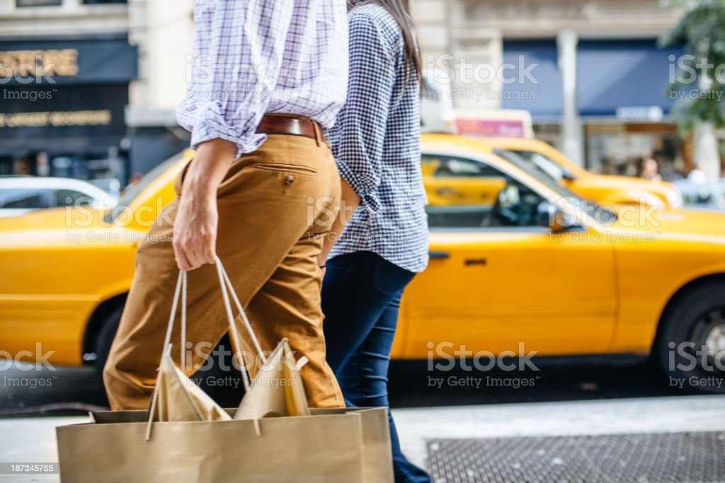 Shopping in New York royalty-free stock photo