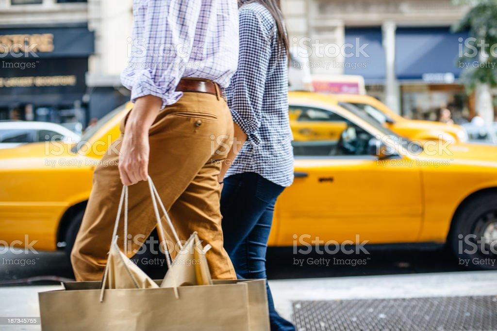 Shopping in New York stock photo