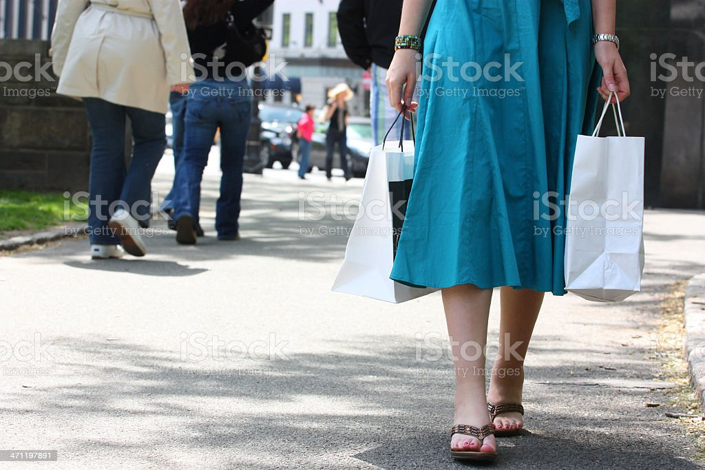 Shopping in NYC royalty-free stock photo