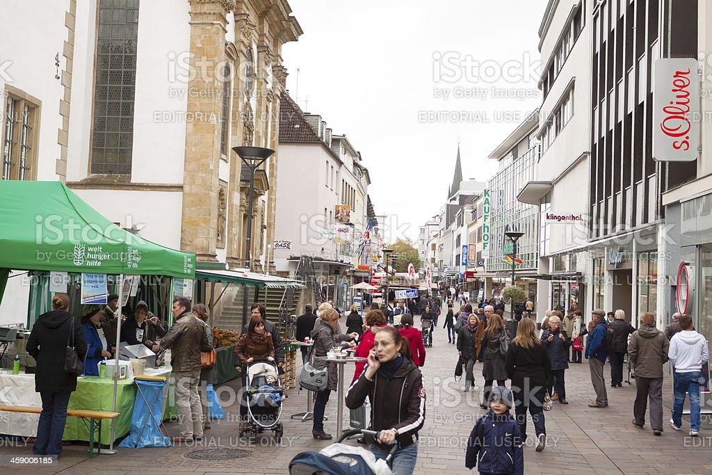 Shopping in Paderborn royalty-free stock photo