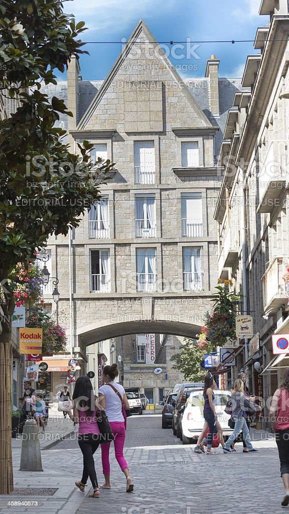 Shopping in St Malo royalty-free stock photo