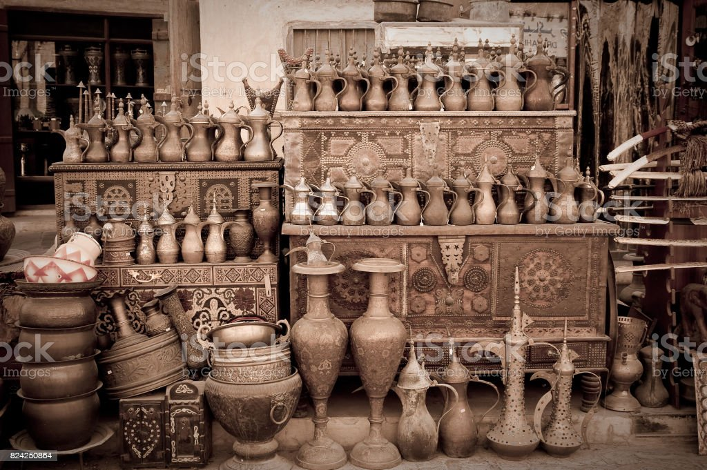 Shopping in the Middle East stock photo