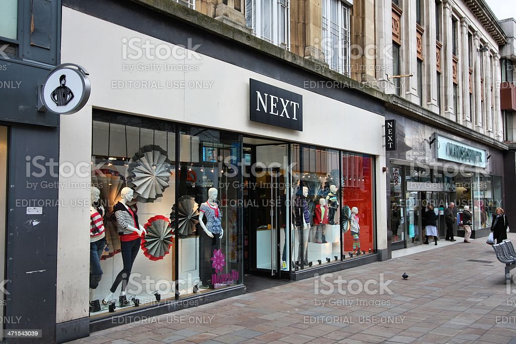 Shopping in the UK stock photo