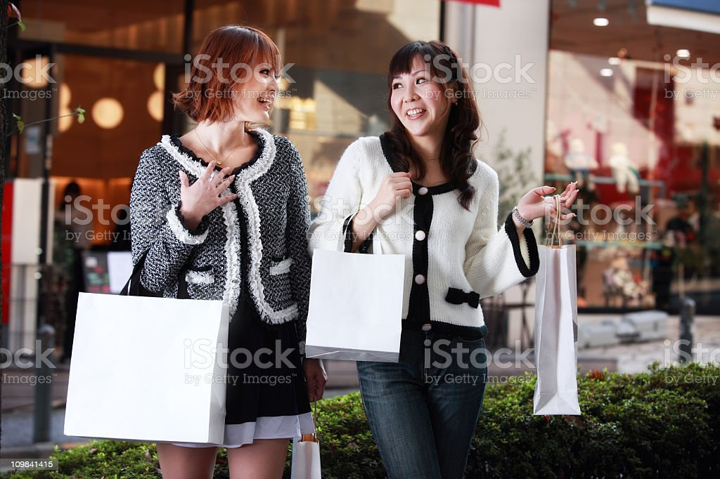 Shopping in Tokyo royalty-free stock photo