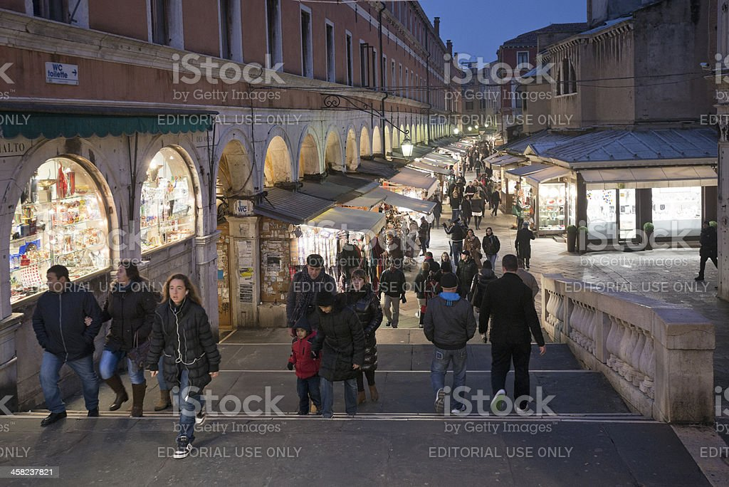 Shopping in Venice royalty-free stock photo