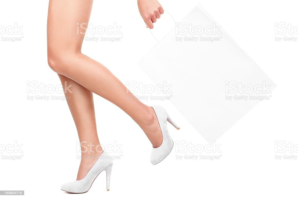 Shopping in white royalty-free stock photo
