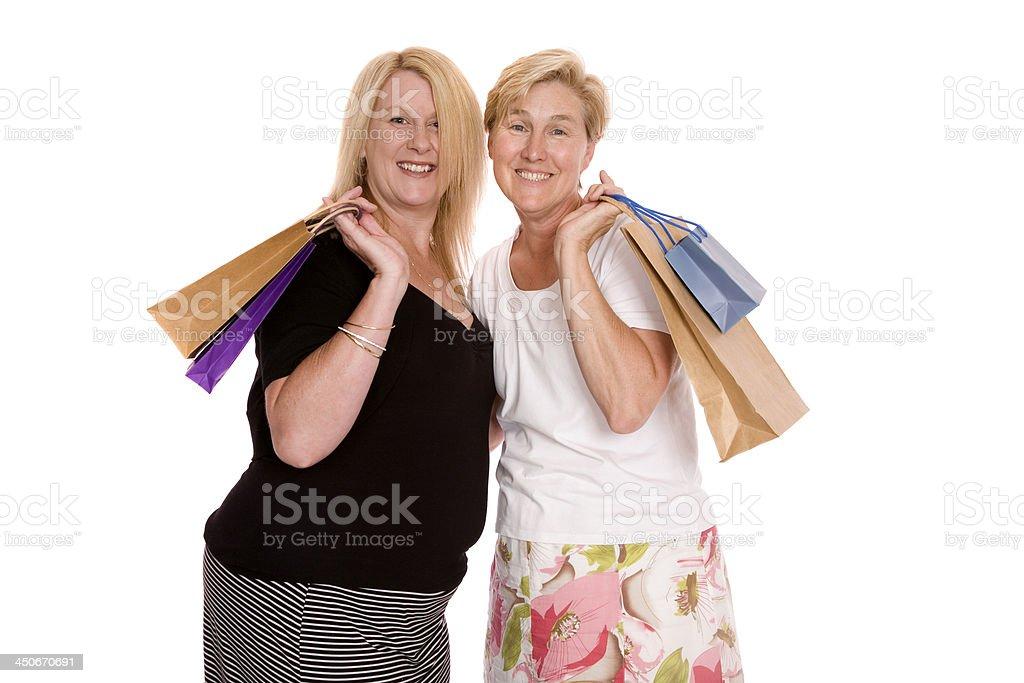 Shopping Ladies stock photo