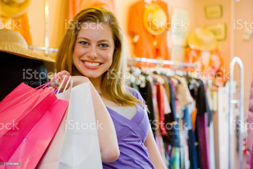 Shopping lady royalty-free stock photo