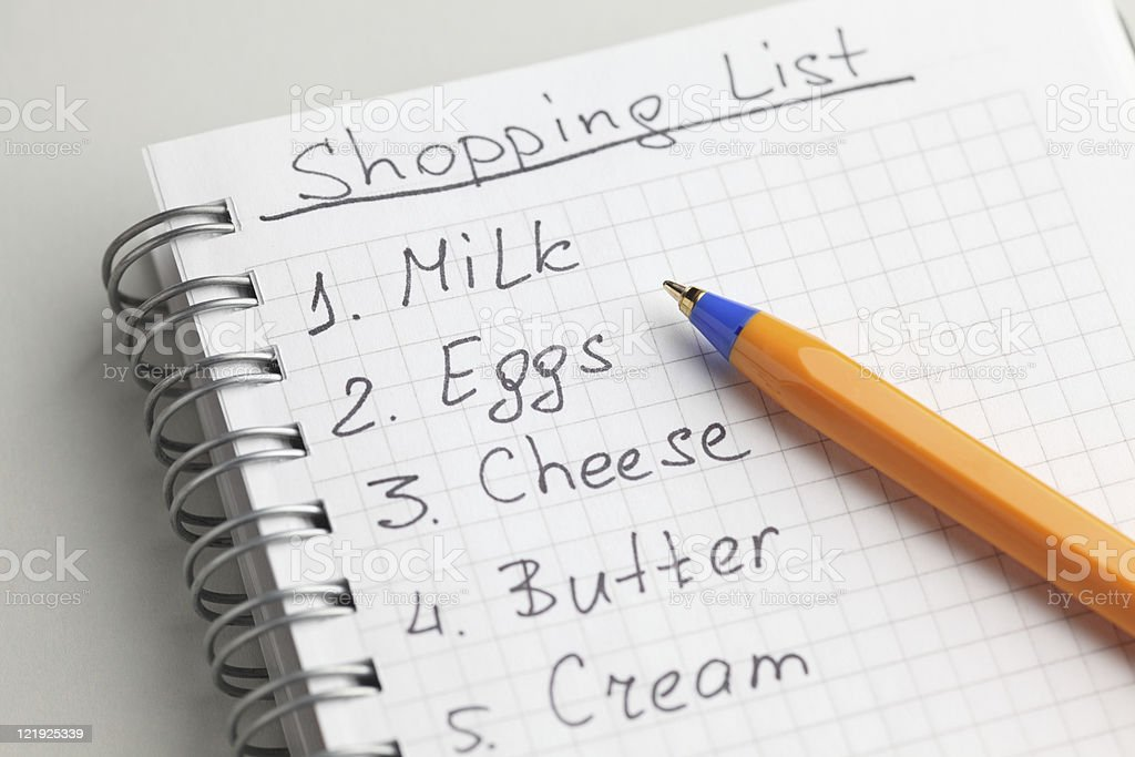 Shopping List royalty-free stock photo