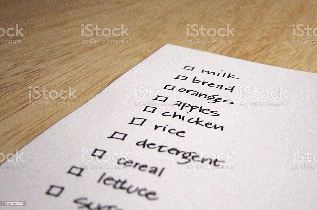 shopping list royalty-free stock photo