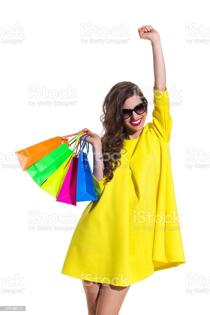 Shopping Makes Me Happy stock photo