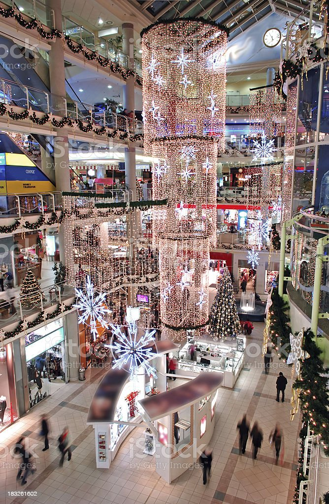 Shopping Mall at Christmas Time royalty-free stock photo