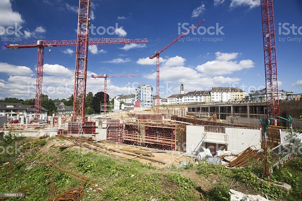 Shopping mall construction royalty-free stock photo