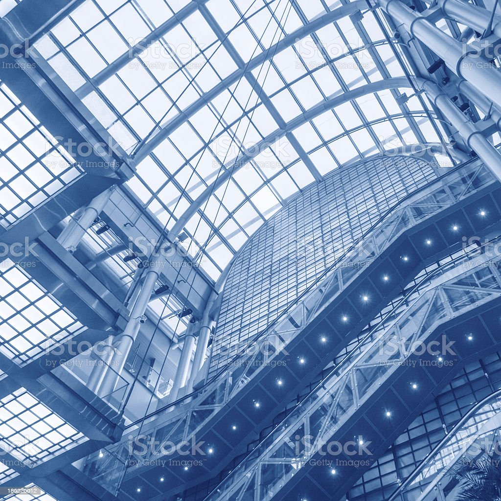 Shopping mall escalator royalty-free stock photo