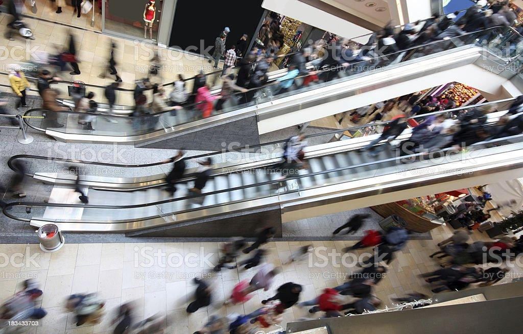 Shopping Mall Escalators royalty-free stock photo