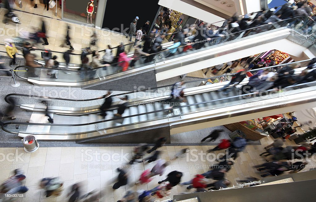 Shopping Mall Escalators stock photo