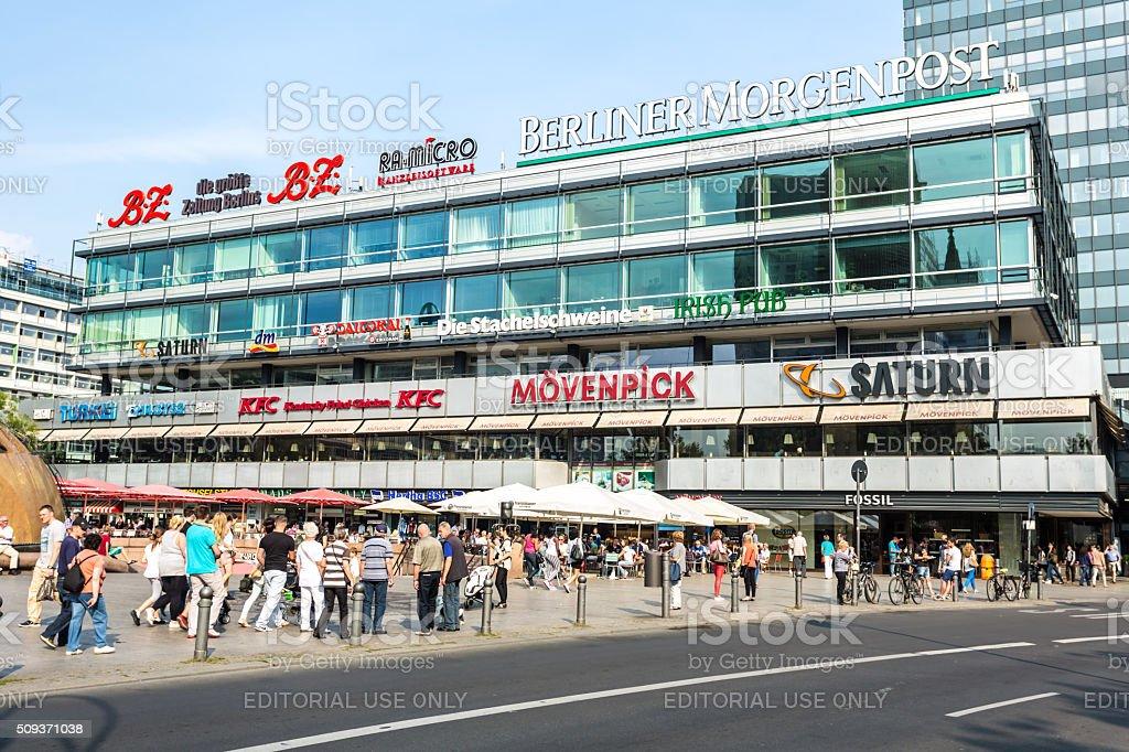 Shopping mall Europa Center at Breitscheid Platz Berlin stock photo
