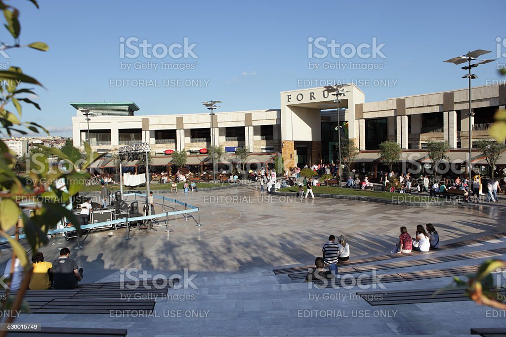 Shopping mall Forum in Istanbul stock photo