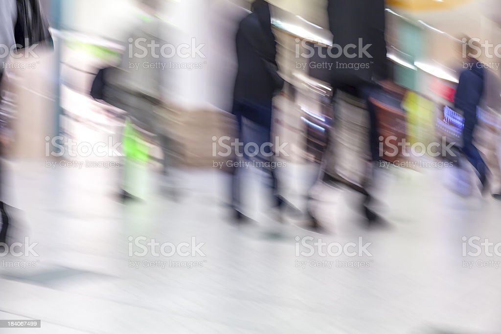 Shopping mall in motion royalty-free stock photo