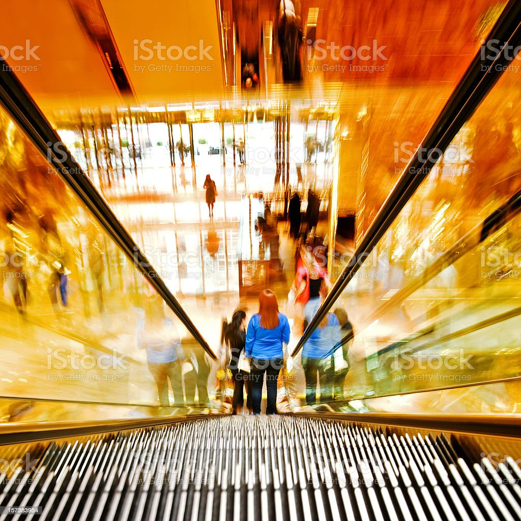 Shopping mall in New York royalty-free stock photo
