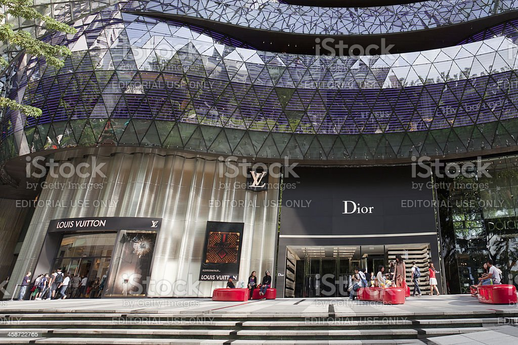 Shopping Mall in Orchard road, Singapore stock photo